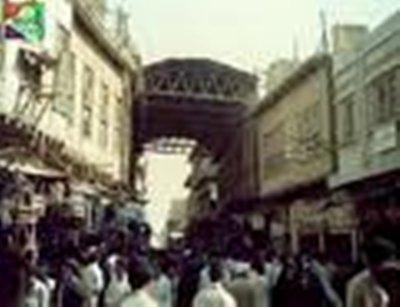 صورة حريق في سوق العشار وسط البصرة