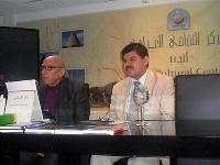 صورة خالد القشطيني في أمسية ثقافية في المركز الثقافي العراقي بلندن