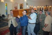 صورة تشييع رسمي للفنانة عفيفة اسكندر في كنيسة مار يوسف ببغداد