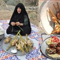 صورة أهالي ابي الخصيب: الدجاج المشوي بالتنور أهم وجبة غذائية بعد حلاوة نهر خوز