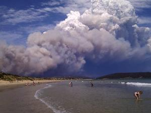 صورة نزوح الالاف من سكان تسمانيا والحرائق تهدد مدينتي سدني وكانبيرا