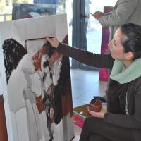 صورة عمان تسهر مع تالق الفنانين التشكيليين العرب في اختتام ملتقاهم الدولي الثاني