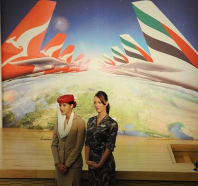 صورة طيران الإمارات وكوانتاس الاسترالية تبدآن شراكة تاريخية