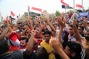 صورة تظاهرات حاشدة في البصرة للمطالبة بتحسين الخدمات والقضاء على الفساد