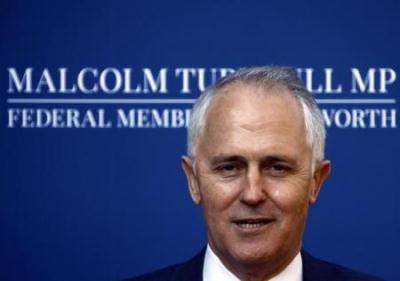 """صورة """" مالكولم ترنبول """" يطيح بأبوت ليصبح رئيساً لوزراء استراليا"""