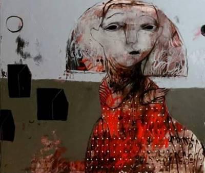 صورة الفنانة الجورجية روسودان خيزانيشفيلي:  السرديات الشعبية مناسبة للرسم