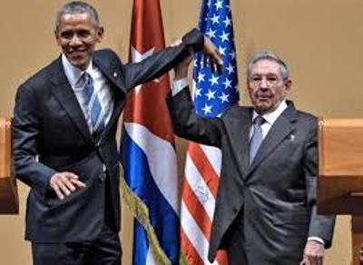 صورة الرئيس اوباما يتعرض الى موقف محرج خلال زيارته الى هافانا