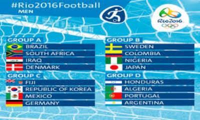 صورة في اولمبياد ريو دي جانيرو العراق  يلاقي البرازيل والجزائر مع الأرجنتين