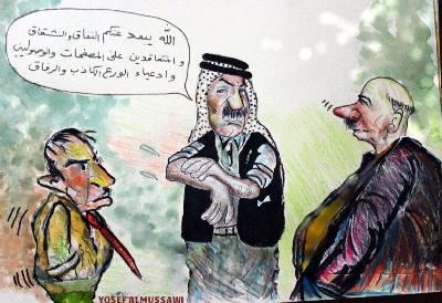 صورة كاريكاتير/( دعاء رمضان ) للفنان يوسف الموسوي – ملبورن
