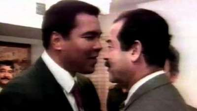 صورة ماذا قال صدام للأسطورة كلاي خلال زيارته للعراق