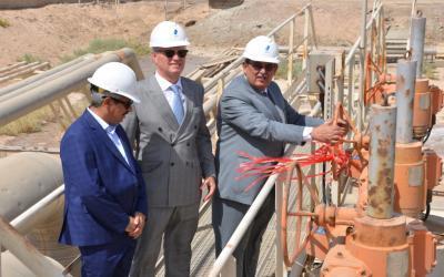 صورة الاحتفال في خور الزبير بتصدير الغاز السائل لأول مرة في العراق