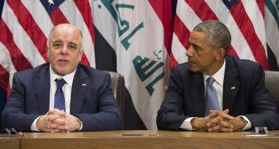 صورة أوباما والعبادي يناقشان في نيويورك الحرب على داعش الارهابي