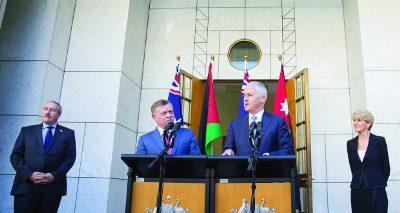صورة العاهل الاردني يبحث سبل تعزيز التعاون الاقتصادي والتجاري مع استراليا