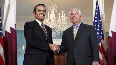 صورة قطر تبحث مع واشنطن أيجاد حل سلمي لأنهاء الازمة مع جيرانها .