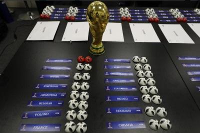 صورة قرعة مونديال روسيا 2018  تجمع منتخبا مصر والسعودية في مجموعة واحدة