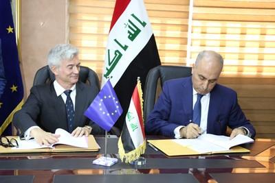 صورة العراق يوقع أتفاقية مع الاتحاد الأوروبي للاصلاح المالي