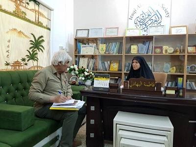 صورة في جمعية الفردوس العراقية حوارات ومناقشات تناولت أهم قضايا المرأة في العراق