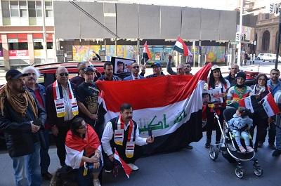 صورة الجاليه العراقيه في سدني تنظم تظاهره جماهيرية كبرى تضامناً مع انتفاضة العراقيين