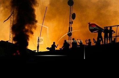 صورة أحتجاجات البصرة.. غاضبون يحرقون مؤسسات إعلامية والأمن يستعد لملاحقة صحفيين