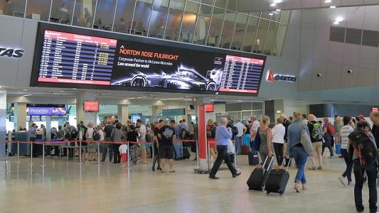 صورة وضع حجرالاساس لانشاء مطار دولي ثان في مدينة سدني الاسترالية