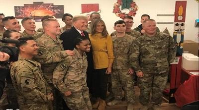 صورة الكابوي ترامب والحمل سليماني والبكاؤون على السيادة العراقية