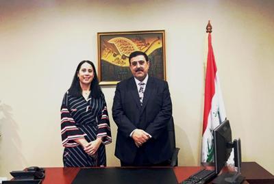 صورة السفير العراقي يستقبل سفيرة نيوزلندا لدى العراق