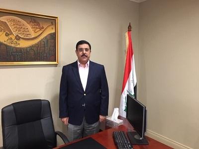 صورة السفير العراقي في استراليا يعزي السادة آل ياسر بوفاة والدة الشاعر احمد الياسري
