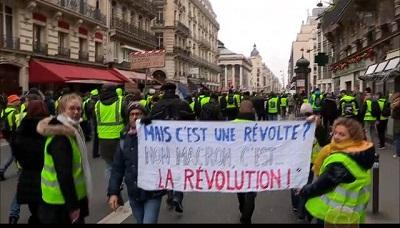 صورة أحتجاجات أصحاب السترات الصفراء…الرأسمالية المتوحشة تحتضر