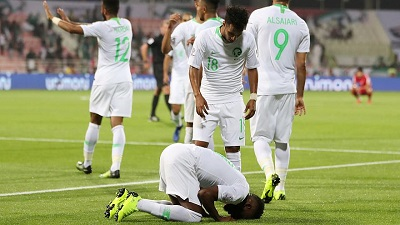 صورة ضمن مباريات كأس أسيا السعودية تفوز ( 4- صفر ) على  كوريا الشمالية
