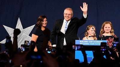 صورة الائتلاف الحاكم بزعامة سكوت مورسن يفوز بالانتخابات الأسترالية العامة