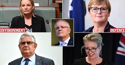 صورة حكومة سكوت مورسن الجديدة ضمت 7 نساء ووزير من السكان الاصليين