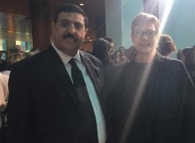 صورة سفير العراق لدى استراليا يحضر افتتاح جلسة البرلمان الجديد ويلتقي وزيرة الخارجية