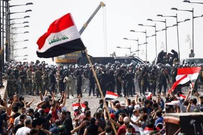 صورة صرخة شعب مضطهد..تسونامي الإحتجاجات الشعبية العراقية
