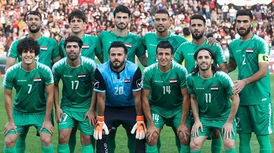 صورة فوز تاريخي للمنتخب العراقي على إيران في عمان