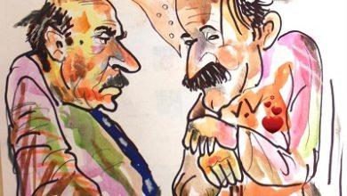 صورة كاريكاتير للفنان يوسف الموسوي/ ملبورن
