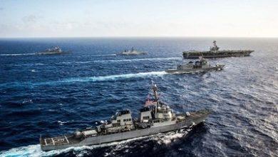 صورة مناورات بحرية قبالة سواحل أوكيناوا اليابانية تثير غضب الصين