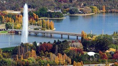 صورة أقدم بحيرة في العاصمة الاسترالية كانبرا