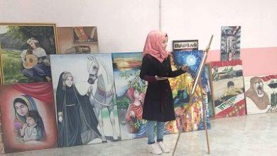 صورة لوحاتها تثير اهتمام المختصين وتحصد التفوق دوماً