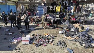 صورة أستشهاد عشرات الابرياء وجرح أكثر من 100 في تفجيرين انتحاريين في ساحة الطيران وسط بغداد