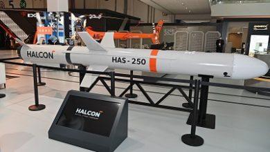 """صورة """" هالكن"""" تكشف النقاب عن أول صاروخ كروز مضاد للسفن في آيدكس 2021"""