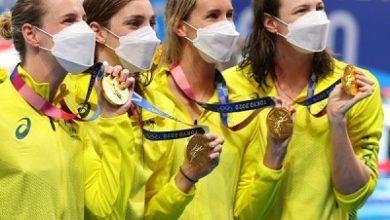 صورة نساء استراليا في السباحة ينجحن في الحصول على اول ذهبية في اولمبياد طوكيو