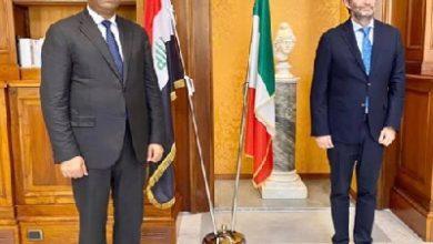 صورة وزير الثقافة العراقي يبحث مع نظيره الإيطالي توفير زمالات وتدريب موظفي الوزارة